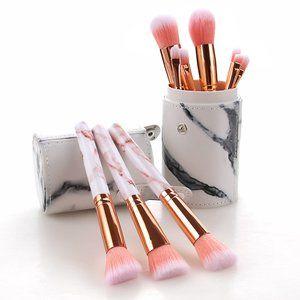 10pcs Professional Marble Makeup Brush Set & Gift